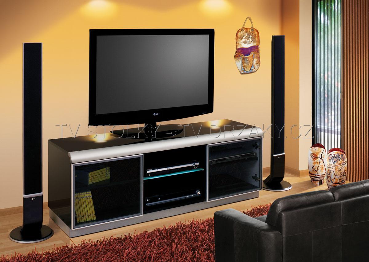 Luxusní TV stolek DENVER (černý)