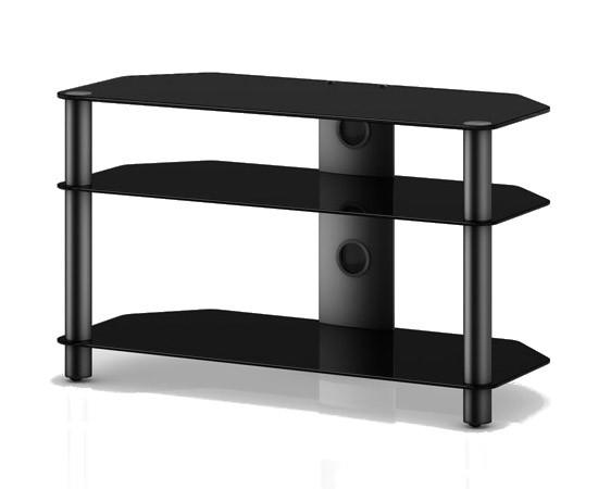TV stolek NEO 390 (černé sklo-černé nohy)
