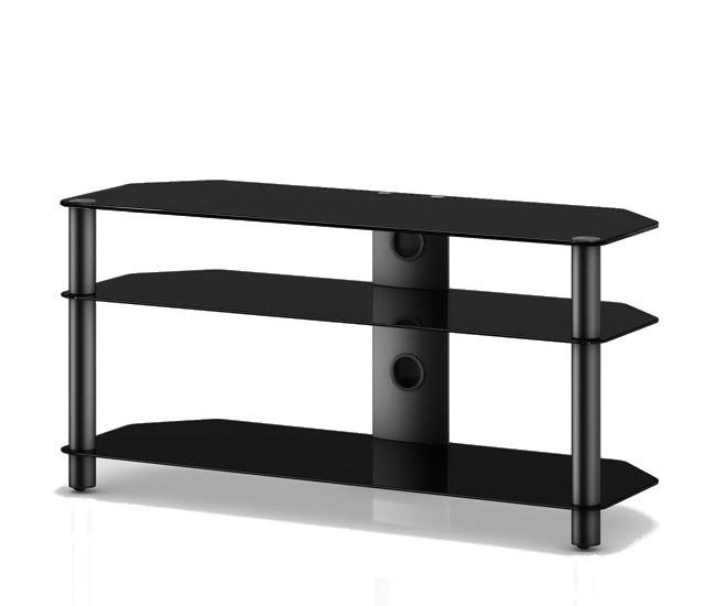 TV stolek NEO 3110 (černé sklo-černé nohy)