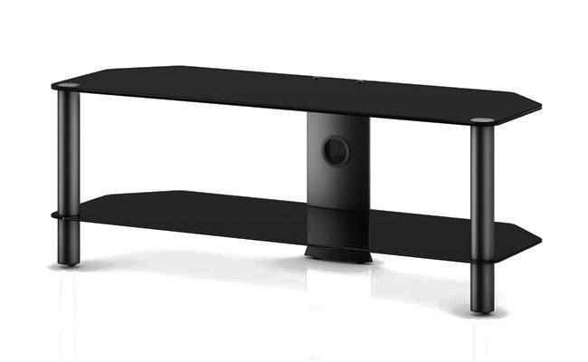 TV stolek NEO 2110 (černé sklo-černé nohy)