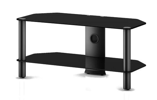 TV stolek NEO 290 (černé sklo-černé nohy)