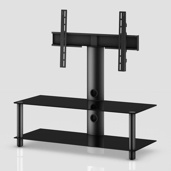 TV stolek NEO 110 (černé sklo-černé nohy)