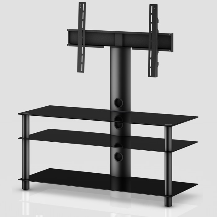 TV stolek NEO 1103 (černé sklo-černé nohy)