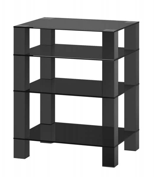 Hifi stolek RX 5040 (černé sklo / černé nohy)