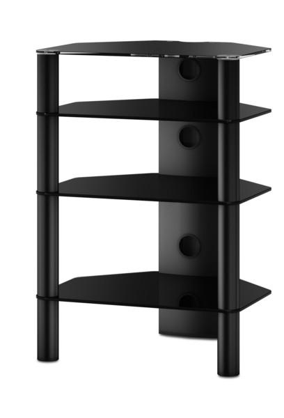 Hifi stolek RX 2140 (černé sklo / černé nohy)