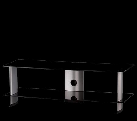 TV stolek SONOROUS PL 3110 (černé sklo + stříbrné nohy)