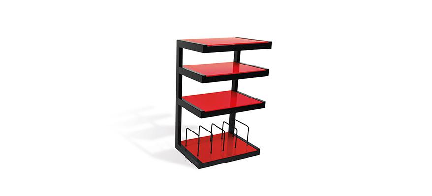 Hifi stolek NORSTONE ESSE HIFI VINYL (červený)