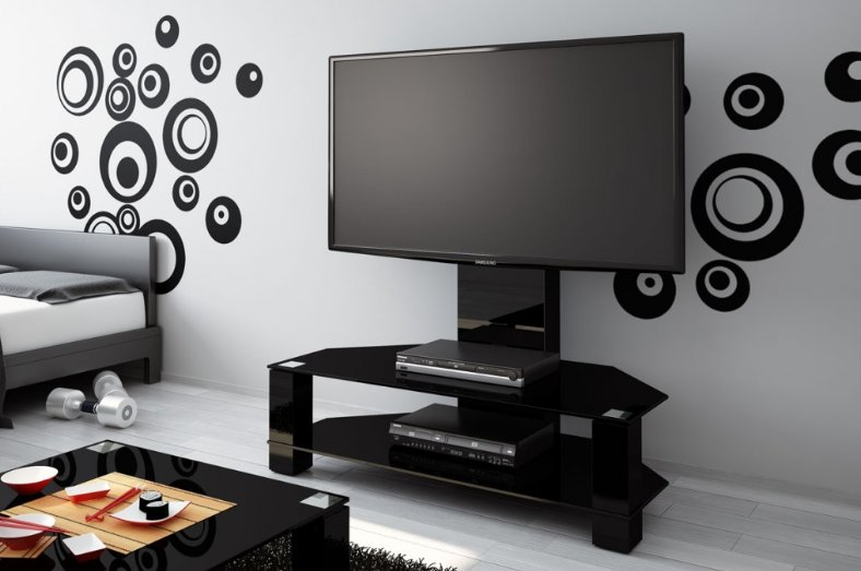 TV stolek Hubertus LUGANO Black