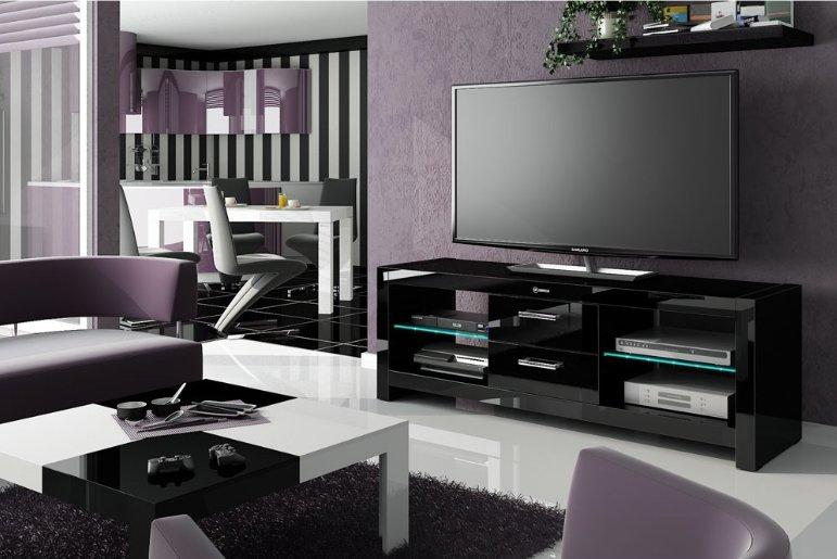 TV stolek ANDORA Black + (další barvy k výběru)