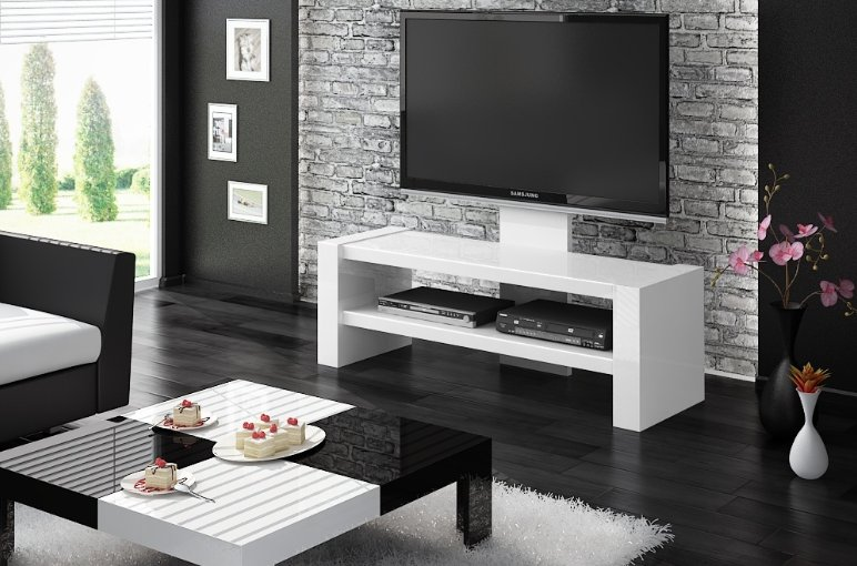 Televizní stolek DAVOS White + (další barvy k výběru)