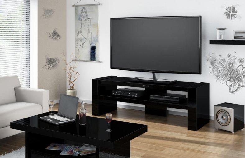 Televizní stolek DAVOS 2 (černý) + (další výběr barev)