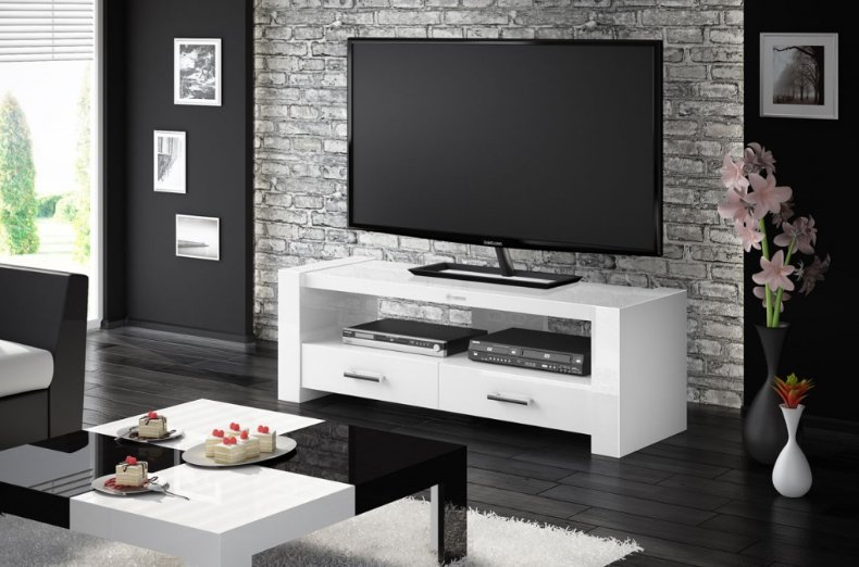 Televizní stolek MONACO 2 White + (další barvy k výběru)