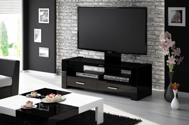 Televizní stolek MONACO (černý) + (další barvy k výběru)