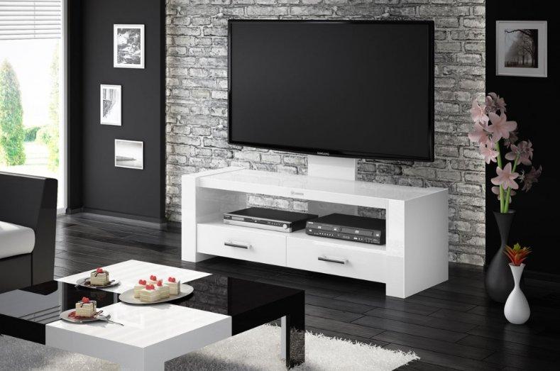 Televizní stolek MONACO (bílý) + (další barvy k výběru)